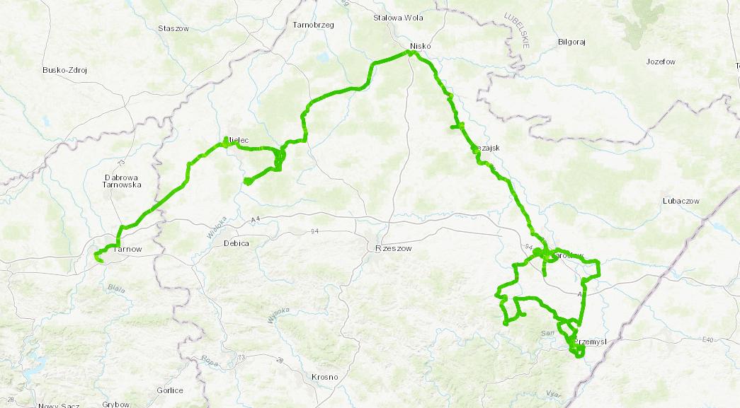 Tarnów-Mielec-Nisko-Jarosław-Przemyśl (AGH)